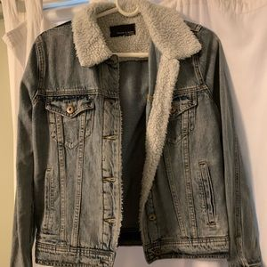 Articles Of Society Jackets & Coats - Jean jacket with Sherpa trim